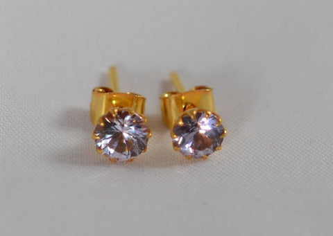 21k Natural Spinel Earrings