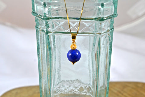 New! Lapis Lazuli 18&21k Necklace Top