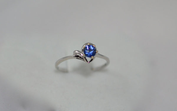 Natural Blue Sapphire 18k white gold ring