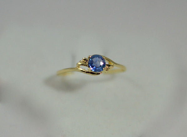Natural Blue Sapphire with 18k Ring
