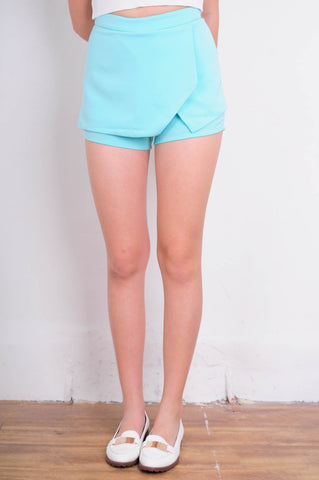 [THE CLOSET LOVER] Mint Overlap Skort