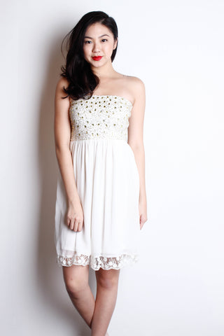 [ZARA] Bejewelled Lace Bustier Dress