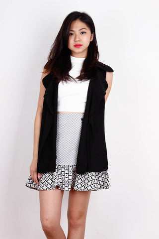 [ZARA] Black Sleek Vest