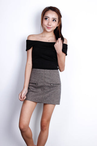 [ZARA] Double Zipper Skirt