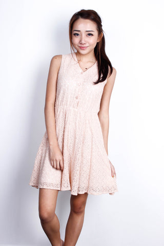 [THE TINSEL RACK] Lace Button Down Dress