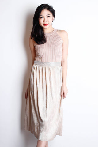 [ZARA] Shimmer Pleated Maxi Skirt