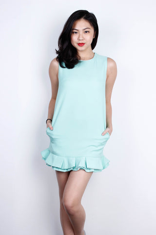 [TRACEYINNY] Flutter Dress in Mint Green