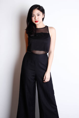 [H&M] Black Mesh Crop Top