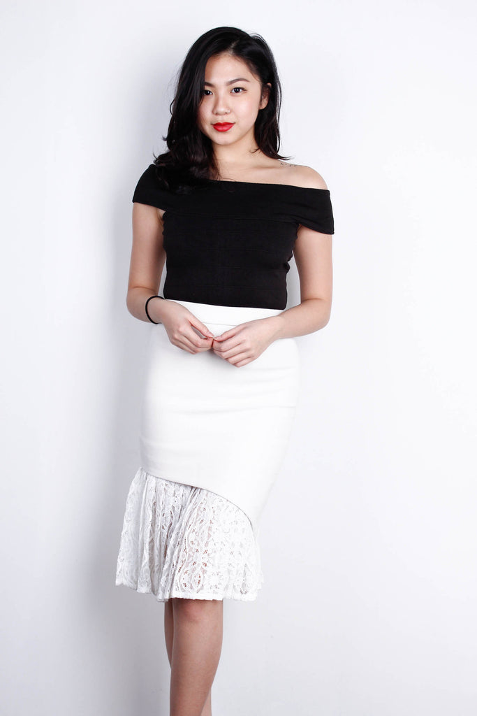 Mermaid Skirt in White (S)