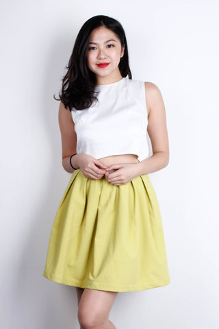 [LOVE & BRAVERY] Flare Skirt in Yellow