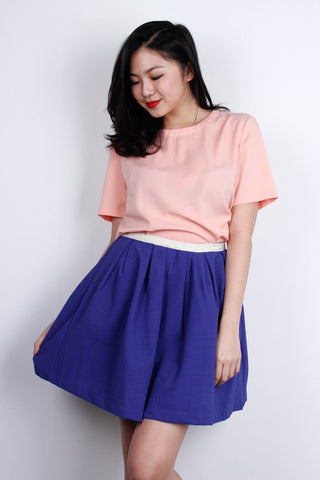 [LOVE & BRAVERY] Flare Skirt in Blue