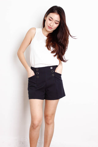 [MISSSELFRIDGE] Black Button Shorts