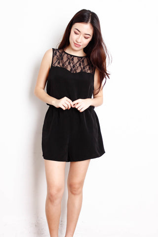 [FOREVER21] Black Dress with Lace details