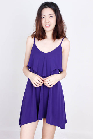 [HOLLYHOQUE] Royal Purple Flare Dress