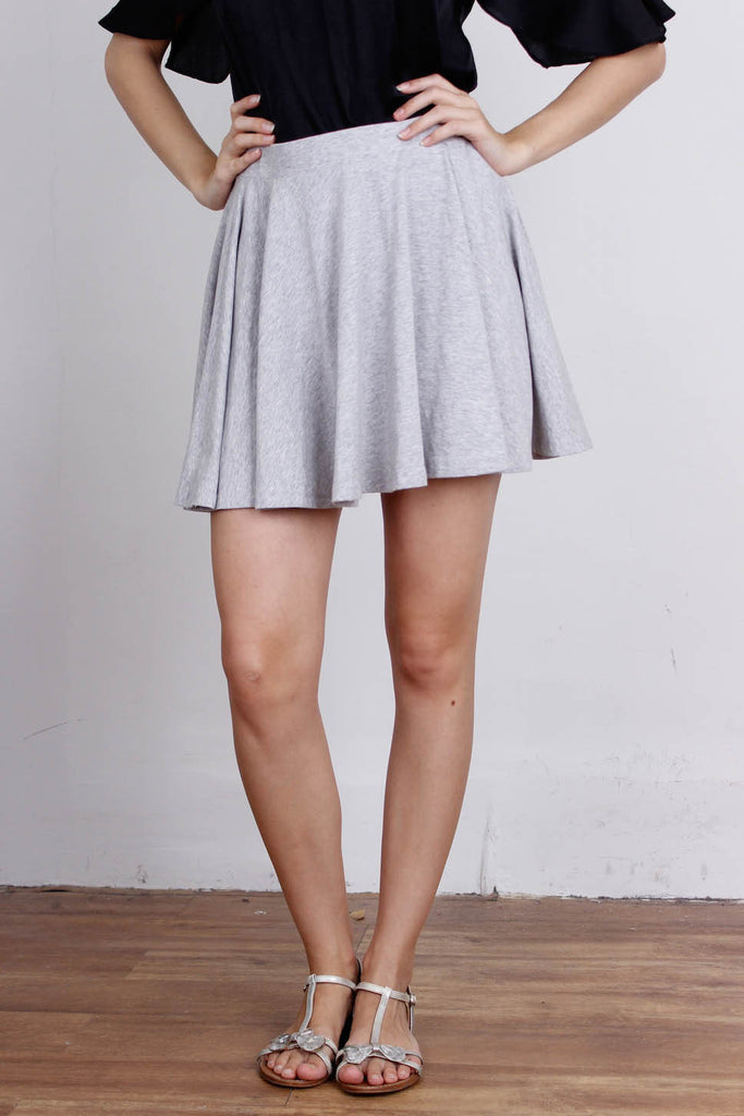 [FACTORIE] Grey Skater Skirt