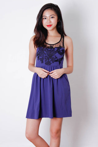 [THE TINSEL RACK] Purple Lace Detailed Dress