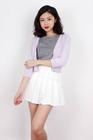[NEWLOOK] Cropped Cardigan in Purple