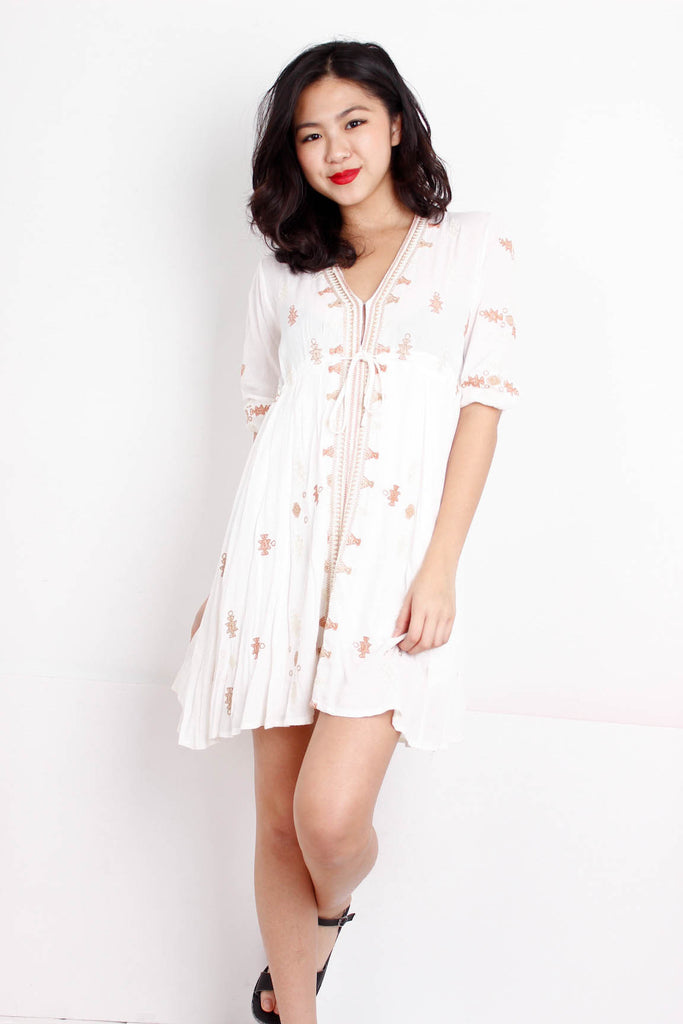 [FREE PEOPLE] Embriodered Summer Dress