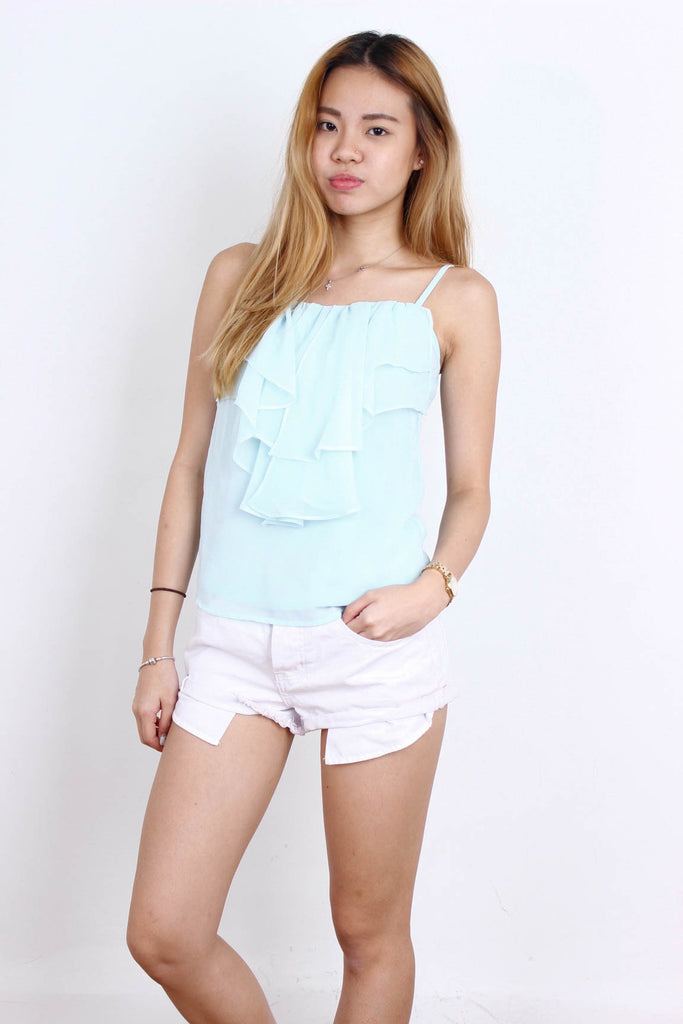 [THECLOSETLOVER] Chiffon Layered Mint Top