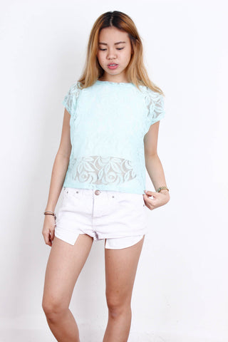 [FOREVER21] Turqoise Laced Throwover
