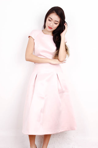 [MISS SELFRIDGE] Satin Light Pink Crop Top