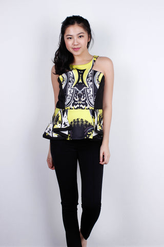 [MDS] Halter Abstract Cut In Top