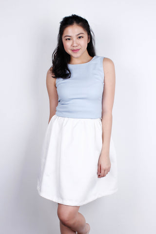 [THE CLOSET LOVER] Sky Blue Top with Ribbon