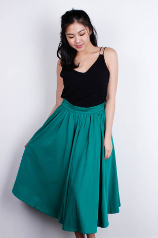 [A FOR ARCADE] Teal Midi SKirt