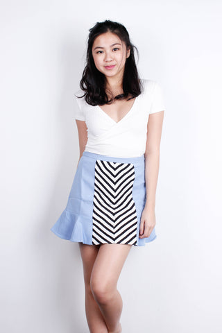 [MDS] Ziggy Zig-zag Skirt in Blue
