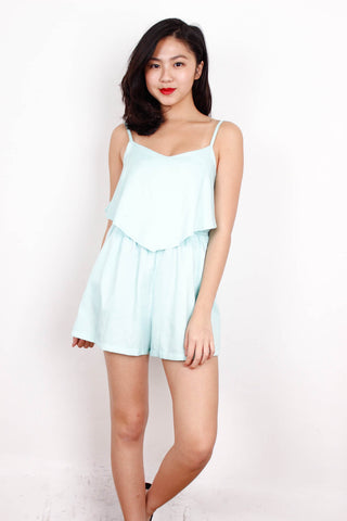 [THE TINSEL RACK] Pale Mint Romper