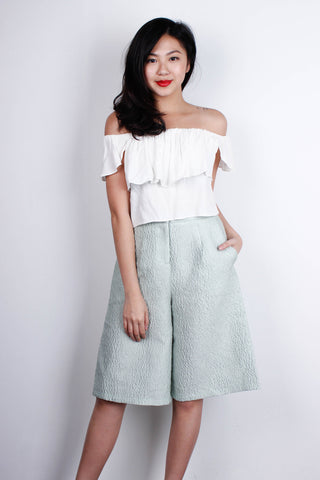 [MDS] Ruffled Off Shoulder Top