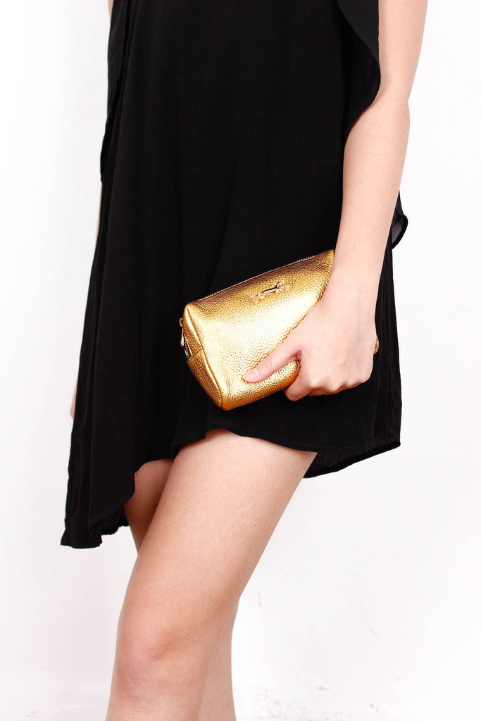 [BIMBA&LOLA] Golden Leather Pouch *