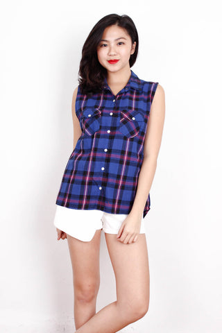 [FOREVER21] Checkered Button Down Top