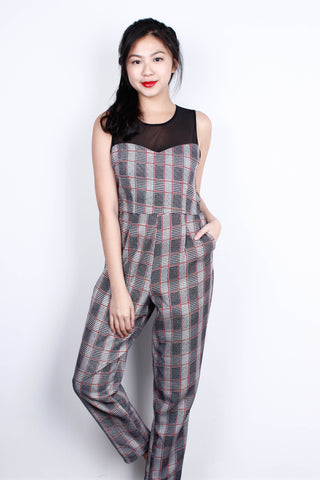 [MDS] Checkered Mess Jumpsuit