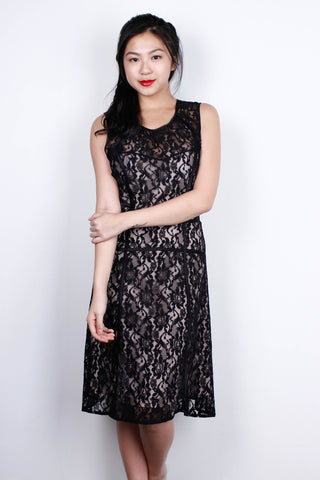 Copy of [BCBG MAX AZRIA] Black Nude Lace Dress