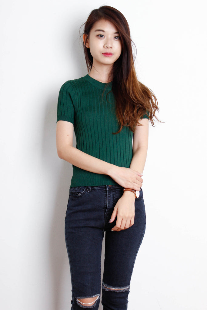 Moss Ribbed Fit Me Top