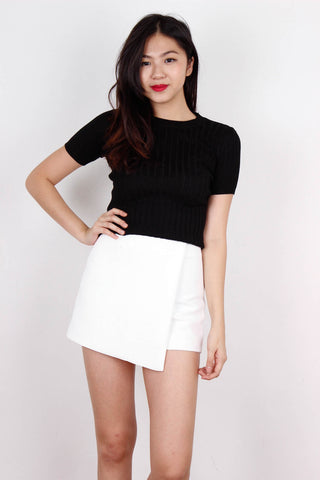 Black Ribbed Fit Me Top