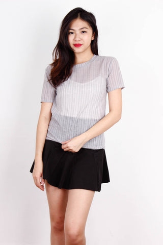Grey Sheer Rough Top