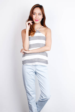 [THE EDITOR'S MARKET] Striped Spag Top