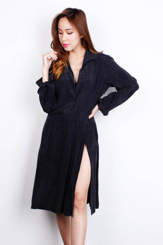 [RAOUL] Black Robe Dress
