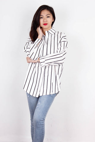 Crisp White Striped Shirt