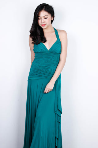 [BCBG MAX AZRIA] Emerald Halter Maxi Dress