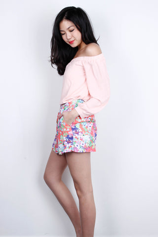 [FOREVERNEW] Floral Shorts in Coral