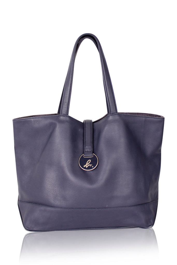 [AGNESB] Basic Navy Tote Bag