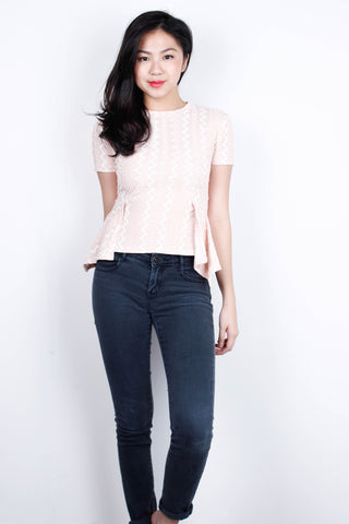 [MDS] Dusty Pink Lace Flare Top