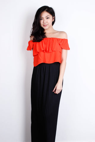 [MDS] Coral Off Shoulder Top