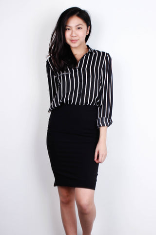 [THE TINSEL RACK] Stripe Office Top