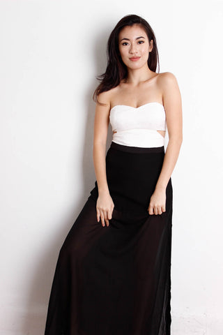 [THE CLOSET LOVER] Mesh Maxi Skirt in Black