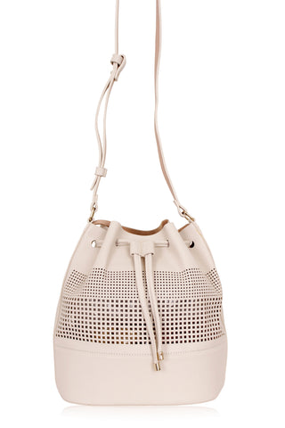 [ZARA] Basic Bucket Bag in Cream