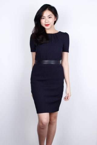 [H&M] Navy Textured Dress